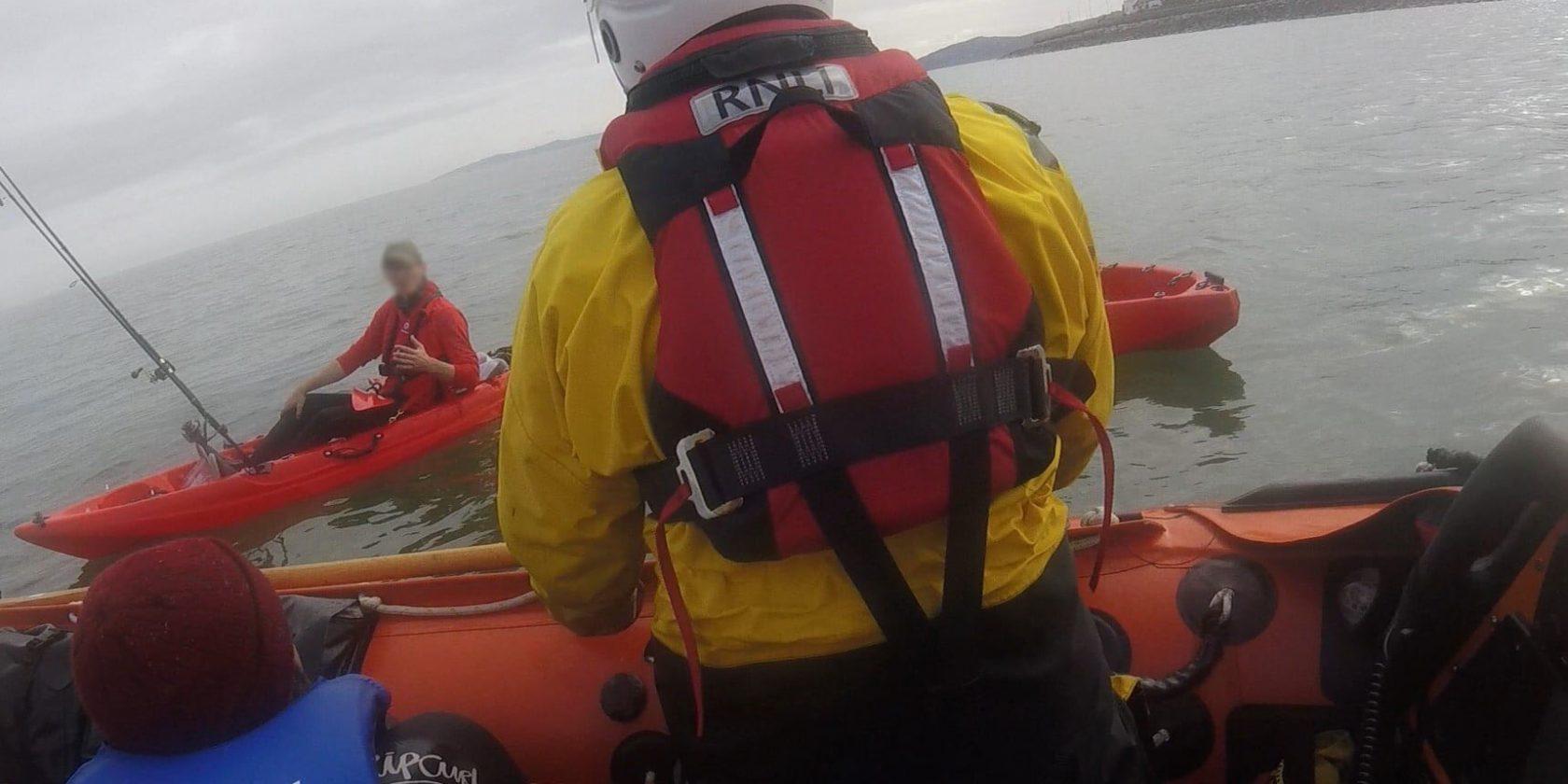 Llandudno RNLI rescue capsized kayaker