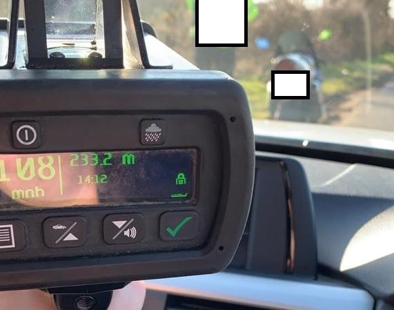 Motorcyclist caught speeding at 108mph in 60mph zone in Gwynedd
